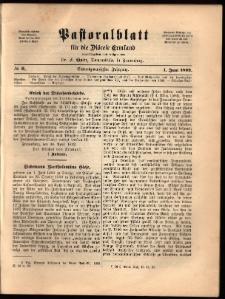 Pastoralblatt für die Diözese Ermland, 1892, nr 6