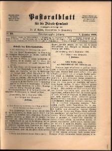 Pastoralblatt für die Diözese Ermland, 1892, nr 10