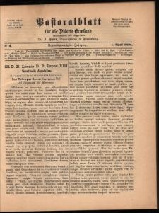 Pastoralblatt für die Diözese Ermland, 1897, nr 4