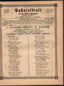 Pastoralblatt für die Diözese Ermland, 1897, nr 5