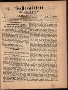 Pastoralblatt für die Diözese Ermland, 1897, nr 11