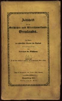 Zeitschrift für die Geschichte und Altertumskunde Ermlands, 1867, t. 4, z. 1