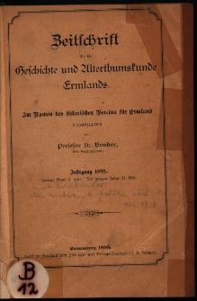 Zeitschrift für die Geschichte und Altertumskunde Ermlands, 1892, t. 10, z. 2