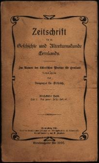 Zeitschrift für die Geschichte und Altertumskunde Ermlands, 1905, t. 15, z. 2