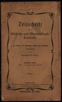Zeitschrift für die Geschichte und Altertumskunde Ermlands, 1908, t. 17, z. 1