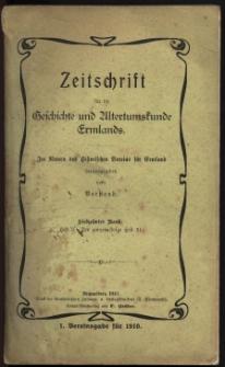 Zeitschrift für die Geschichte und Altertumskunde Ermlands, 1910, t. 17, z. 3