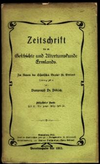 Zeitschrift für die Geschichte und Altertumskunde Ermlands, 1912, t. 18, z. 2