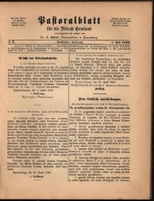 Pastoralblatt für die Diözese Ermland, 1898, nr 7