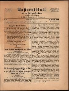 Pastoralblatt für die Diözese Ermland, 1898, nr 8