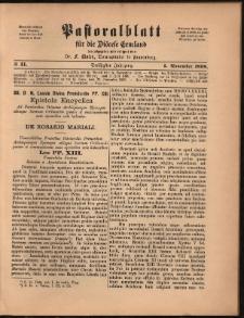 Pastoralblatt für die Diözese Ermland, 1898, nr 11