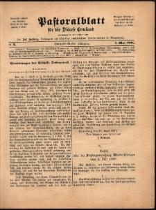 Pastoralblatt für die Diözese Ermland, 1901, nr 5