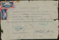[Zaświadczenie o wykonanej pracy w Szpitalu Powiatowym w Mrągowie 1947]