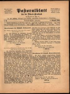 Pastoralblatt für die Diözese Ermland, 1901, nr 8