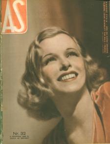 As : ilustrowany magazyn tygodniowy, 1936 (R. 2), nr 32