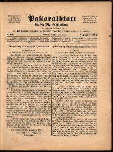 Pastoralblatt für die Diözese Ermland, 1901, nr 10