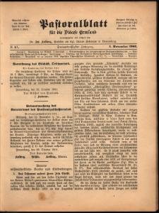 Pastoralblatt für die Diözese Ermland, 1901, nr 11