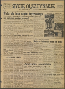 Życie Olsztyńskie : pismo ziemi warmińsko-mazurskiej, 1947, nr 104