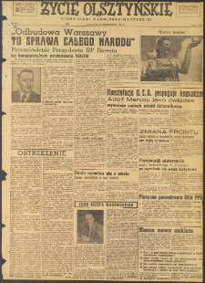 Życie Olsztyńskie : pismo ziemi warmińsko-mazurskiej, 1947, nr 175