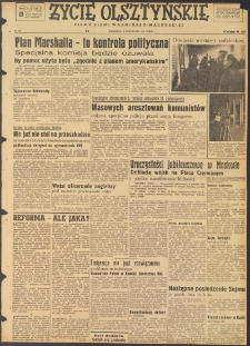 Życie Olsztyńskie : pismo ziemi warmińsko-mazurskiej, 1947, nr 191