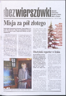 Bez Wierszówki, 2004, nr 7