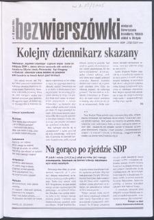 Bez Wierszówki, 2005, nr 1