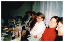 [Spotkanie wigilijne pracowników bibliotek powiatu szczycieńskiego w Miejskiej Bibliotece Publicznej w Szczytnie]