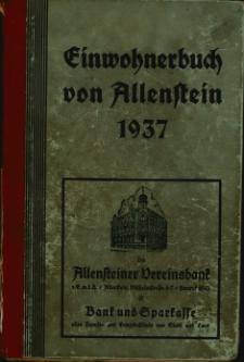 Einwohnerbuch von Allenstein 1937