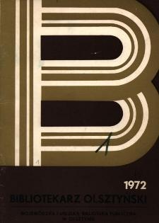 Bibliotekarz Olsztyński, 1972, nr 1