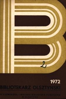 Bibliotekarz Olsztyński, 1972, nr 2