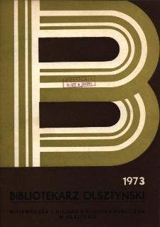 Bibliotekarz Olsztyński, 1973, nr 1