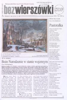 Bez Wierszówki, 2011, nr 10