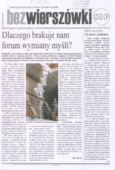 Bez Wierszówki, 2013, nr 1