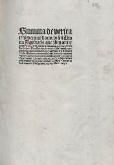 Quaestiones de veritate. Ed. Theodoricus de Susteren