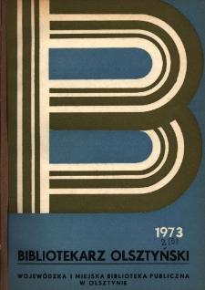 Bibliotekarz Olsztyński, 1973, nr 2