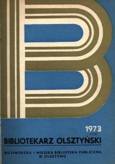 Bibliotekarz Olsztyński, 1973, nr 3