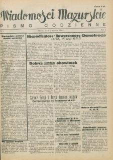 Wiadomości Mazurskie : pismo codzienne. 1946 (R. 2), nr 1