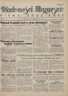 Wiadomości Mazurskie : pismo codzienne. 1946 (R. 2), nr 7