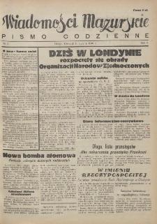 Wiadomości Mazurskie : pismo codzienne. 1946 (R. 2), nr 8