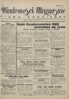 Wiadomości Mazurskie : pismo codzienne. 1946 (R. 2), nr 11