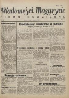 Wiadomości Mazurskie : pismo codzienne. 1946 (R. 2), nr 15