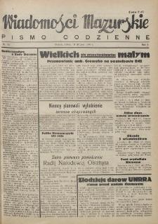 Wiadomości Mazurskie : pismo codzienne. 1946 (R. 2), nr 16