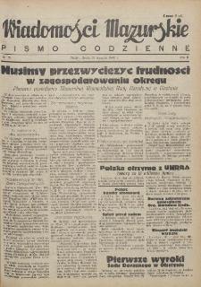 Wiadomości Mazurskie : pismo codzienne. 1946 (R. 2), nr 24