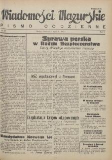 Wiadomości Mazurskie : pismo codzienne. 1946 (R. 2), nr 25