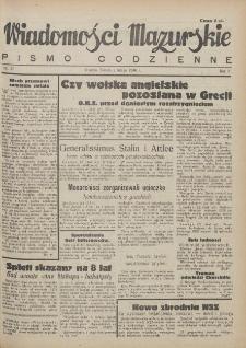 Wiadomości Mazurskie : pismo codzienne. 1946 (R. 2), nr 27