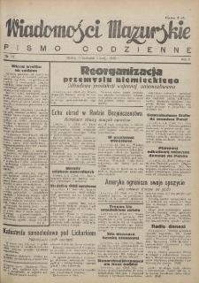 Wiadomości Mazurskie : pismo codzienne. 1946 (R. 2), nr 28