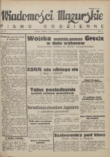 Wiadomości Mazurskie : pismo codzienne. 1946 (R. 2), nr 29