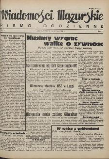 Wiadomości Mazurskie : pismo codzienne. 1946 (R. 2), nr 37