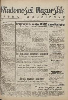 Wiadomości Mazurskie : pismo codzienne. 1946 (R. 2), nr 38