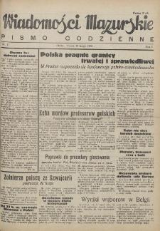 Wiadomości Mazurskie : pismo codzienne. 1946 (R. 2), nr 41