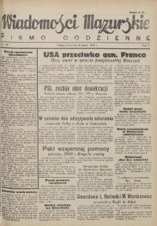 Wiadomości Mazurskie : pismo codzienne. 1946 (R. 2), nr 49